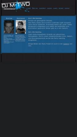 Vorschau der mobilen Webseite www.dj-mtwo.de, DJ M-Two