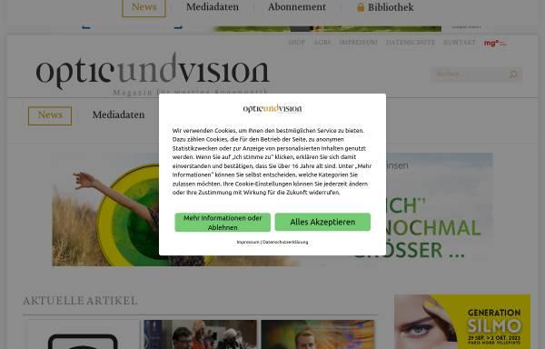 Vorschau von www.optic-und-vision.de, Optic und Vision