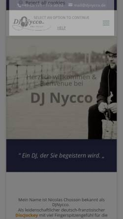 Vorschau der mobilen Webseite www.djnycco.de, DJ Nycco
