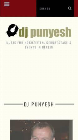 Vorschau der mobilen Webseite www.djpunyesh.de, DJ Punyesh