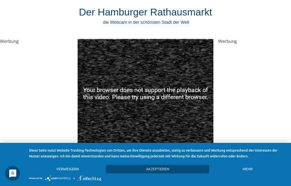 Vorschau von www.hamburger-rathausmarkt.de, Webcam vom Hamburger Rathausmarkt