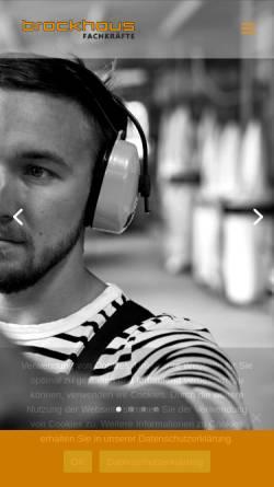 Vorschau der mobilen Webseite www.brockhaus-gmbh.de, Brockhaus GmbH