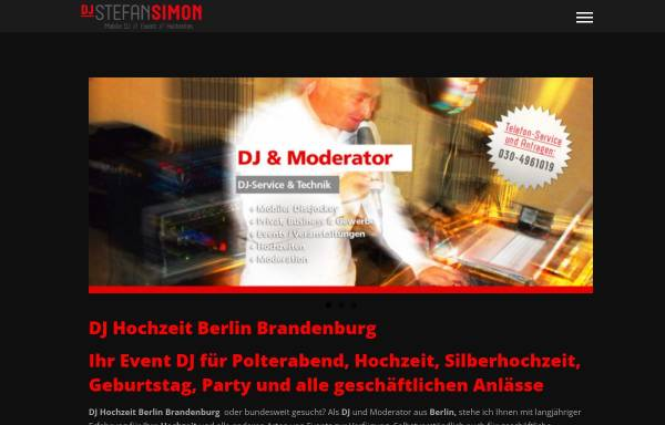 Vorschau von www.stefansimon.de, DJ Berlin: Stefan Simon - Mobiler Allround-Event-DJ