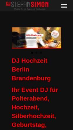 Vorschau der mobilen Webseite www.stefansimon.de, DJ Berlin: Stefan Simon - Mobiler Allround-Event-DJ