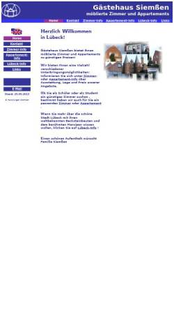 Vorschau der mobilen Webseite www.luebeck-zimmer.de, Gästehaus Siemßen-möblierte Zimmer & Appartements