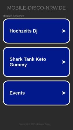 Vorschau der mobilen Webseite www.mobile-disco-nrw.de, DJ Steve und Paco