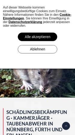 Vorschau der mobilen Webseite www.ihd-deutschland.de, IHD Schädlingsbekämpfung und Taubenabwehr