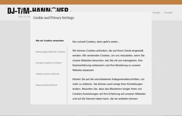 Vorschau von www.dj-tim-hannover.de, DJ Tim