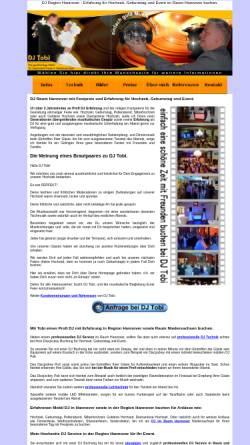 Vorschau der mobilen Webseite www.dj-tobi-hannover.de, DJ Tobi