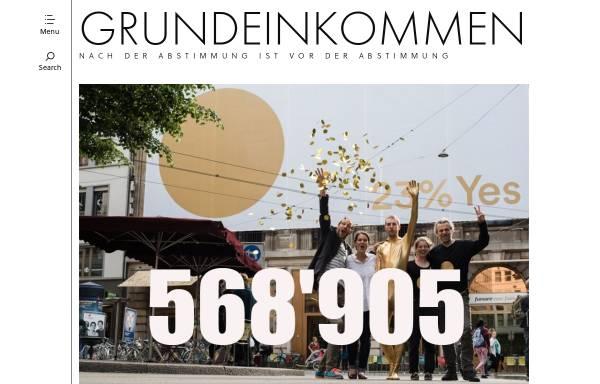 Vorschau von www.grundeinkommen.ch, Initiative Grundeinkommen