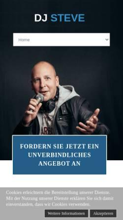 Vorschau der mobilen Webseite www.dj-steve.de, DJ Steve - Professioneller Discjockey für alle Events