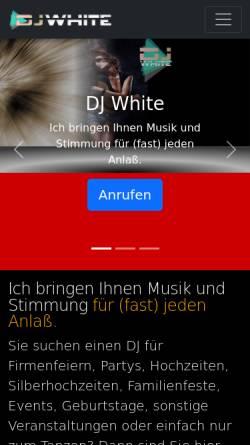 Vorschau der mobilen Webseite dj.prics.de, DJ-White