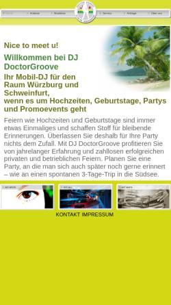 Vorschau der mobilen Webseite www.doctorgroove.de, Doctor Groove