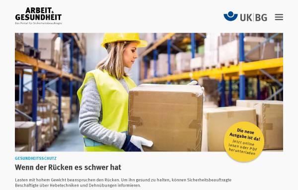 Vorschau von www.arbeit-und-gesundheit.de, Arbeit und Gesundheit