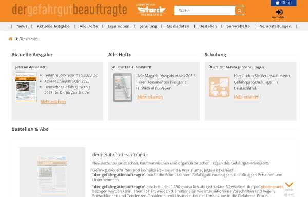 Vorschau von www.der-gefahrgut-beauftragte.de, Der Gefahrgut-Beauftragte