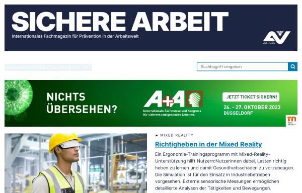 Vorschau von www.sicherearbeit.at, Sichere Arbeit