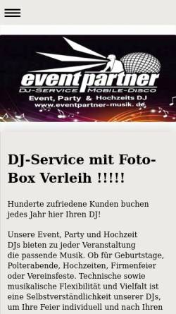 Vorschau der mobilen Webseite www.eventpartner-musik.de, Eventpartner, Kai Stigmann