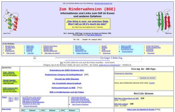 Vorschau von bse.khd-research.net, Zum Rinderwahnsinn