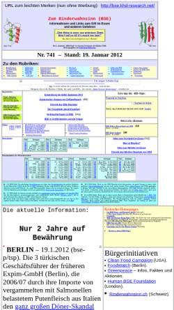 Vorschau der mobilen Webseite bse.khd-research.net, Zum Rinderwahnsinn