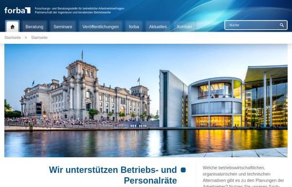 Vorschau von www.forba.de, Forba - Forschungs- und Beratungsstelle für betriebliche Arbeitnehmerfragen