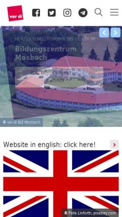 Vorschau der mobilen Webseite bst-mosbach.verdi.de, Michael-Rott-Schule - ver.di-Bildungsstätte Mosbach