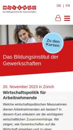 Vorschau der mobilen Webseite www.movendo.ch, Movendo