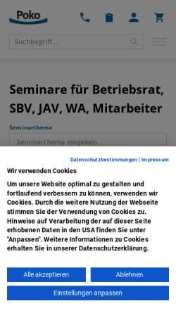 Vorschau der mobilen Webseite www.poko.de, Poko