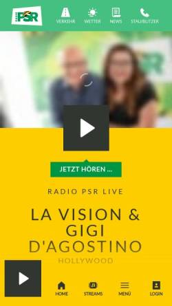 Vorschau der mobilen Webseite www.radiopsr.de, Radio PSR