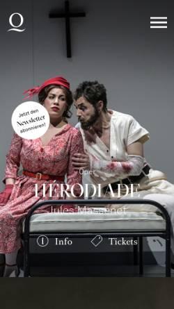 Vorschau der mobilen Webseite operamrhein.de, Deutsche Oper am Rhein - Duisburg