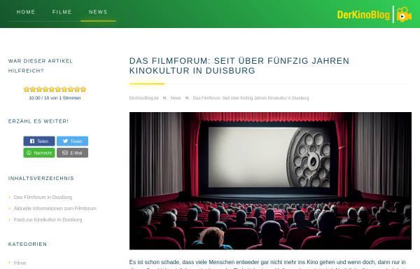 Vorschau von www.filmforum-kino.de, Filmforum Dellplatz