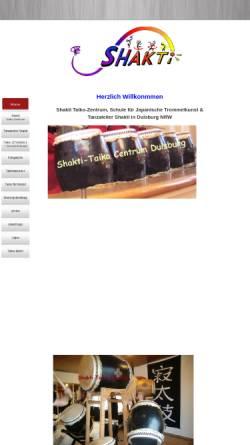 Vorschau der mobilen Webseite www.tanzatelier-shakti.de, Shakti-Taiko-Centrum