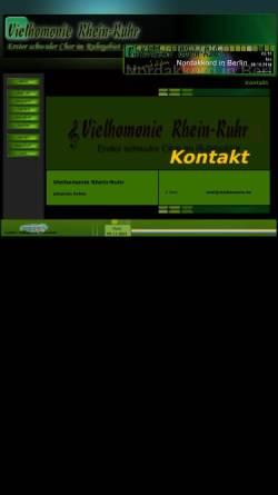 Vorschau der mobilen Webseite www.vielhomonie.de, Vielhomonie Rhein-Ruhr -