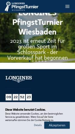 Vorschau der mobilen Webseite www.pfingstturnier.org, Internationales Pfingsturnier Wiesbaden