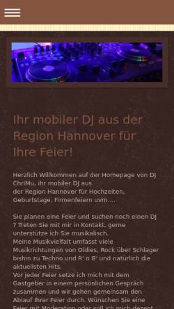 Vorschau der mobilen Webseite www.hannover-dj.de, Hannover-DJ