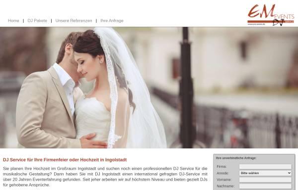 Vorschau von www.hochzeit-ingolstadt.com, Hochzeits-DJ Ingolstadt