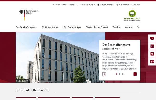 Vorschau von www.bescha.bund.de, Beschaffungsamt des BMI (BeschA)