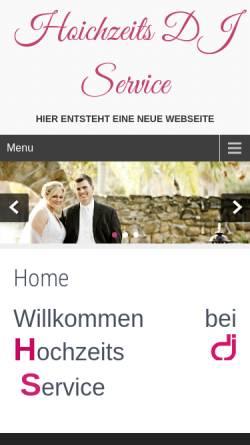 Vorschau der mobilen Webseite www.hochzeits-dj-service.de, Hochzeits-DJ Service