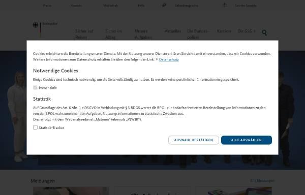 Vorschau von www.bundespolizei.de, Bundespolizei