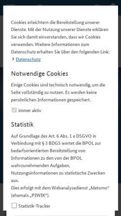 Vorschau der mobilen Webseite www.bundespolizei.de, Bundespolizei