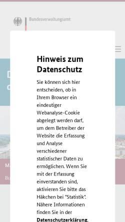 Vorschau der mobilen Webseite www.bva.bund.de, Bundesverwaltungsamt (BVA)
