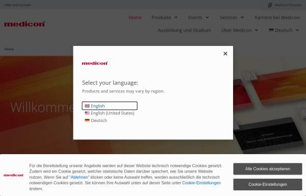 Vorschau von www.medicon.de, Medicon eG