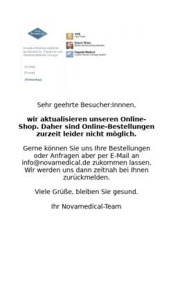 Vorschau der mobilen Webseite www.novamedical.de, Novamedical GmbH