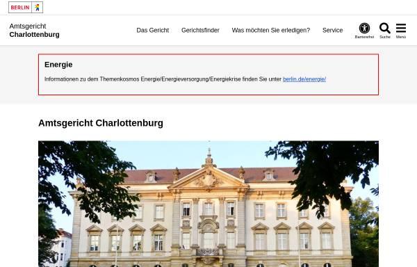 Vorschau von www.berlin.de, Amtsgericht Charlottenburg