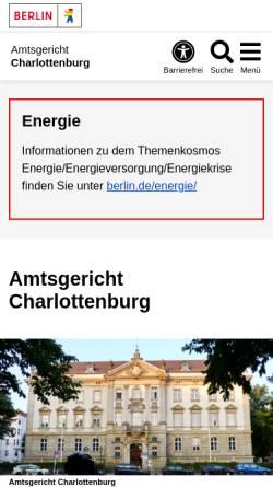 Vorschau der mobilen Webseite www.berlin.de, Amtsgericht Charlottenburg