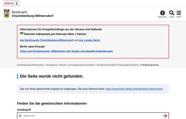 Vorschau von www.charlottenburg-wilmersdorf.de, Bezirksamt Charlottenburg-Wilmersdorf