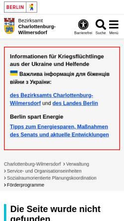 Vorschau der mobilen Webseite www.charlottenburg-wilmersdorf.de, Bezirksamt Charlottenburg-Wilmersdorf