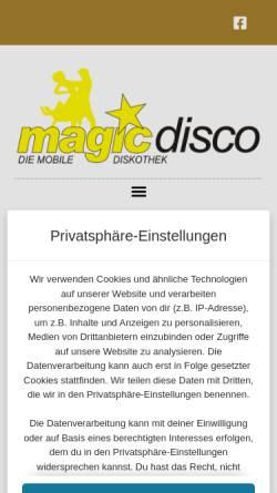 Vorschau der mobilen Webseite www.magic-disco.de, Magic Disco