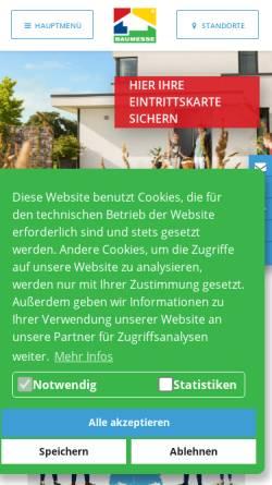 Vorschau der mobilen Webseite www.baumesse.de, Die Baumesse im Internet