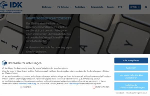 Vorschau von www.idk-hannover.de, Innung des Kfz-Handwerks Hannover