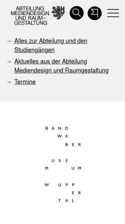Vorschau der mobilen Webseite www.md.uni-wuppertal.de, Mediendesign / Designtechnik an der Bergischen Universität
